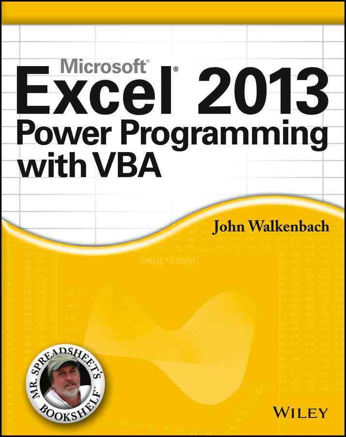 Excel 2013 Power Programming With Vba By Walkenbach, John